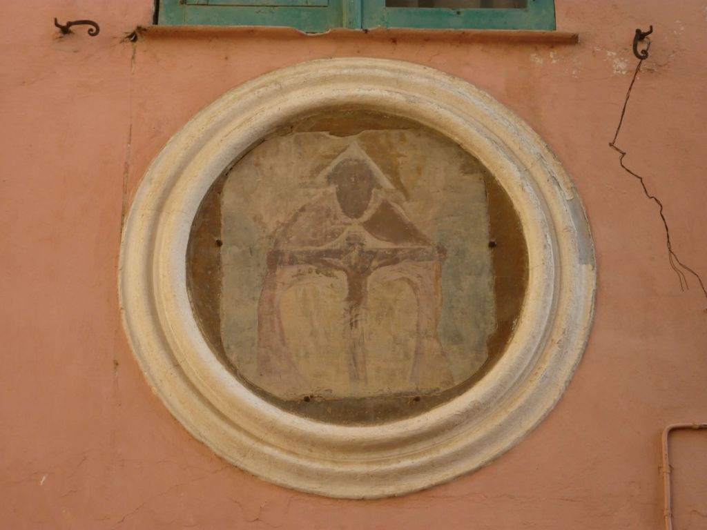casa canonica, dipinto cinquecentesco a olio e tempera su ardesia