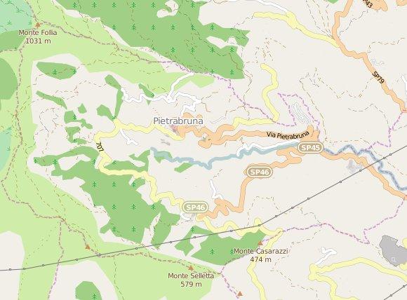 Mappa di Pietrabruna