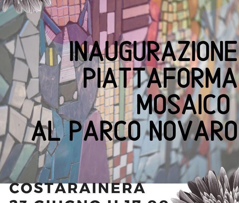 """Inaugurazione mosaici aula didattica al Parco """"G. F. Novaro"""""""