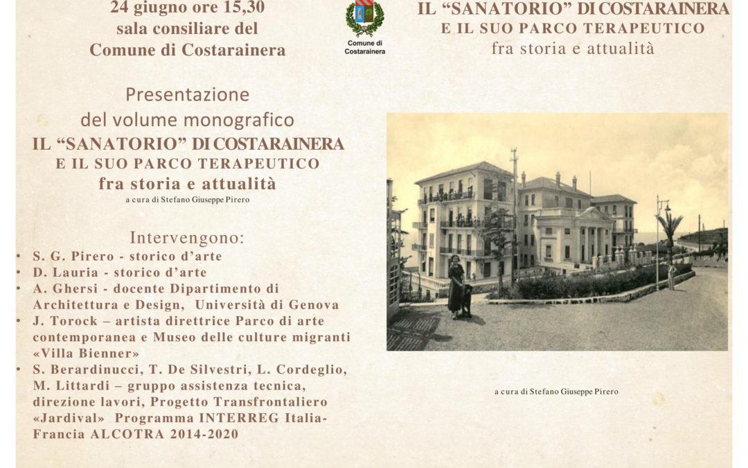 """Presentazione libro """"Il Sanatorio di Costarainera e il suo Parco terapeutico fra storia e attualità"""""""